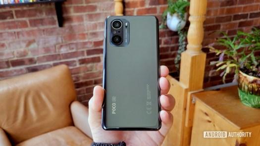 Poco F3 Review Back of Phone Portrait Orientation