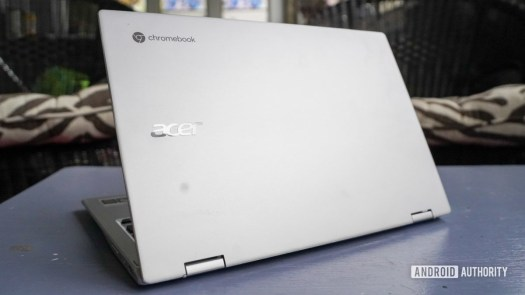 Acer Chromebook Spin 513 angled lid