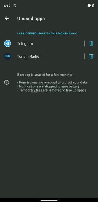 Android 12 App Hibernation 3