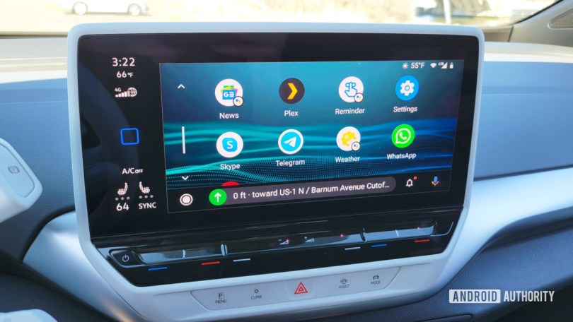 Android Auto in Volkswagen ID.4 App Selections