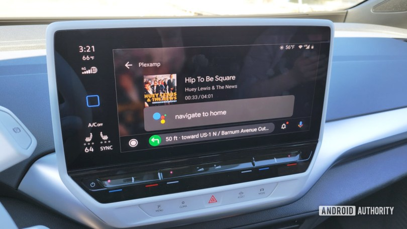 Android Auto in Volkswagen ID.4 Google Assistant Command