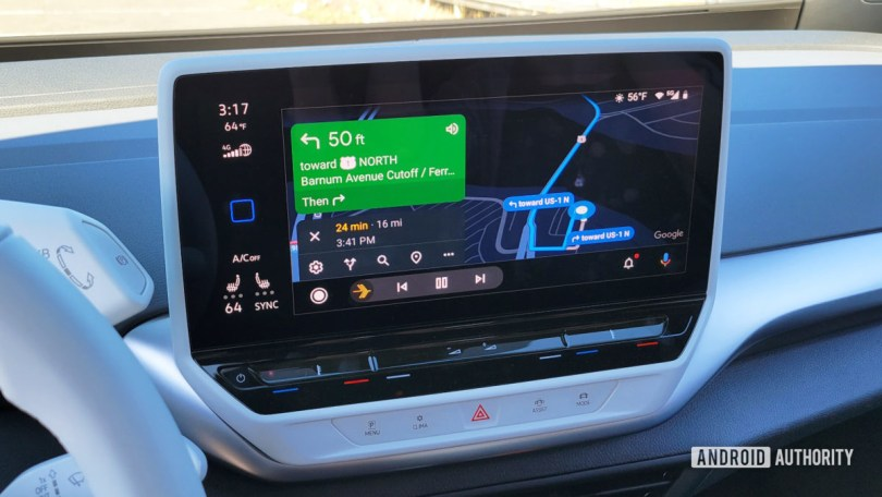 Android Auto in Volkswagen ID.4 Google Maps Navigation