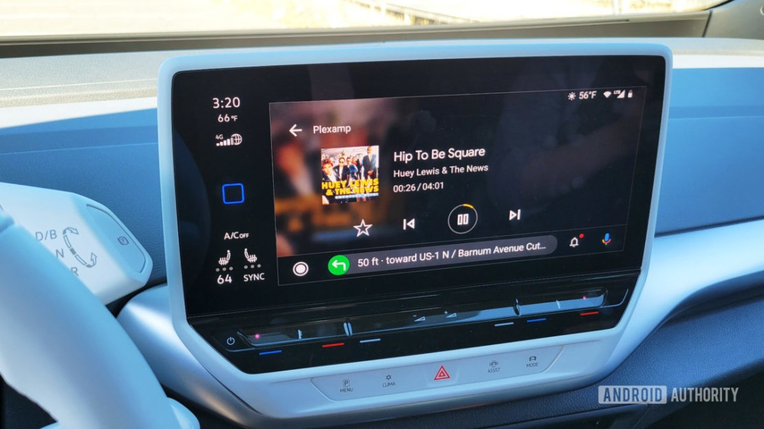 Android Auto in Volkswagen ID.4 Plexamp in Android Auto