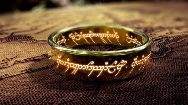 The ring from Lord of the Rings movies