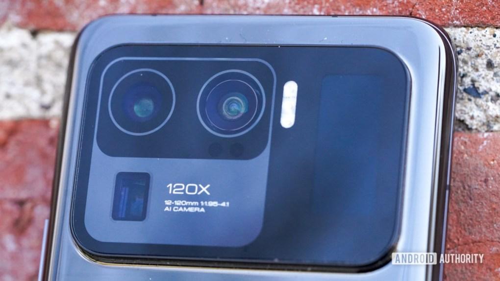 Xiaomi Mi 11 Ultra angled camera closeup