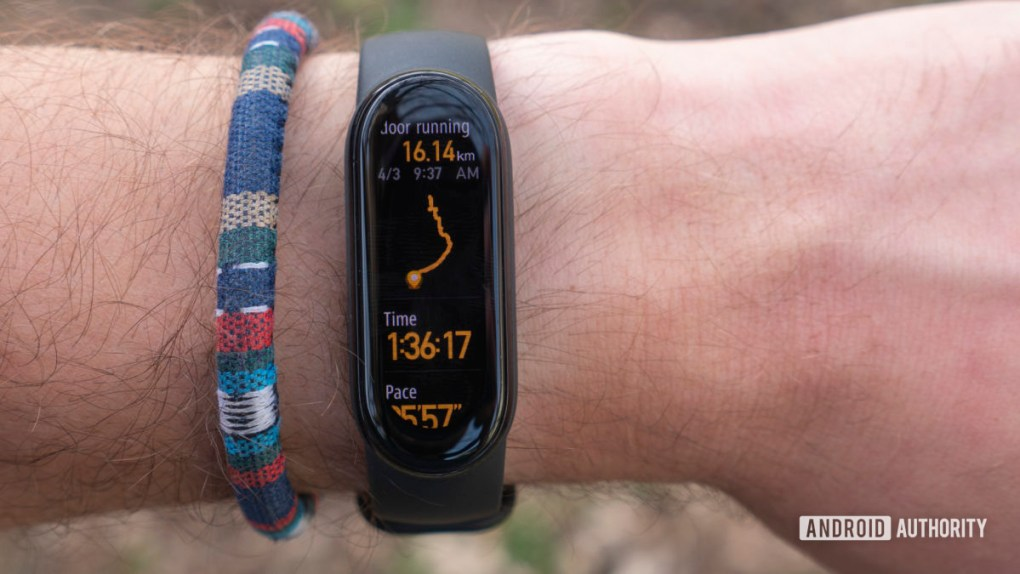 xiaomi mi band 6 review running workout summary page