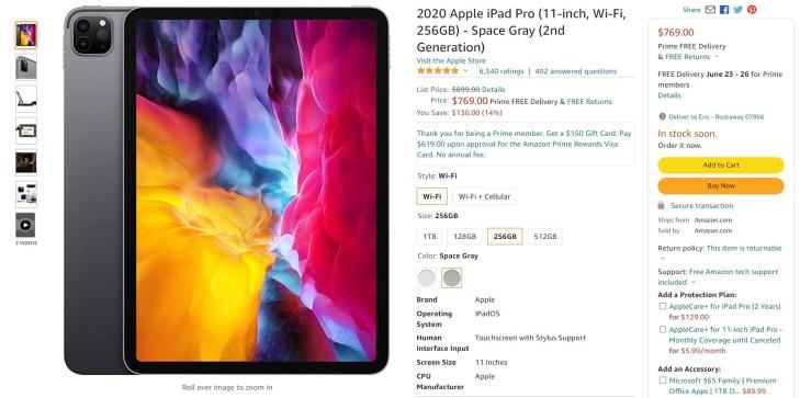 2020 Apple iPad Pro Amazon Deal