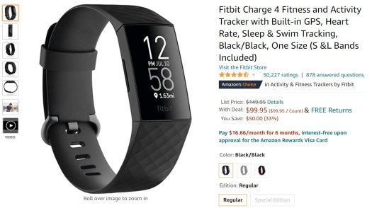 Fitbit Charge 4 Amazon Deal