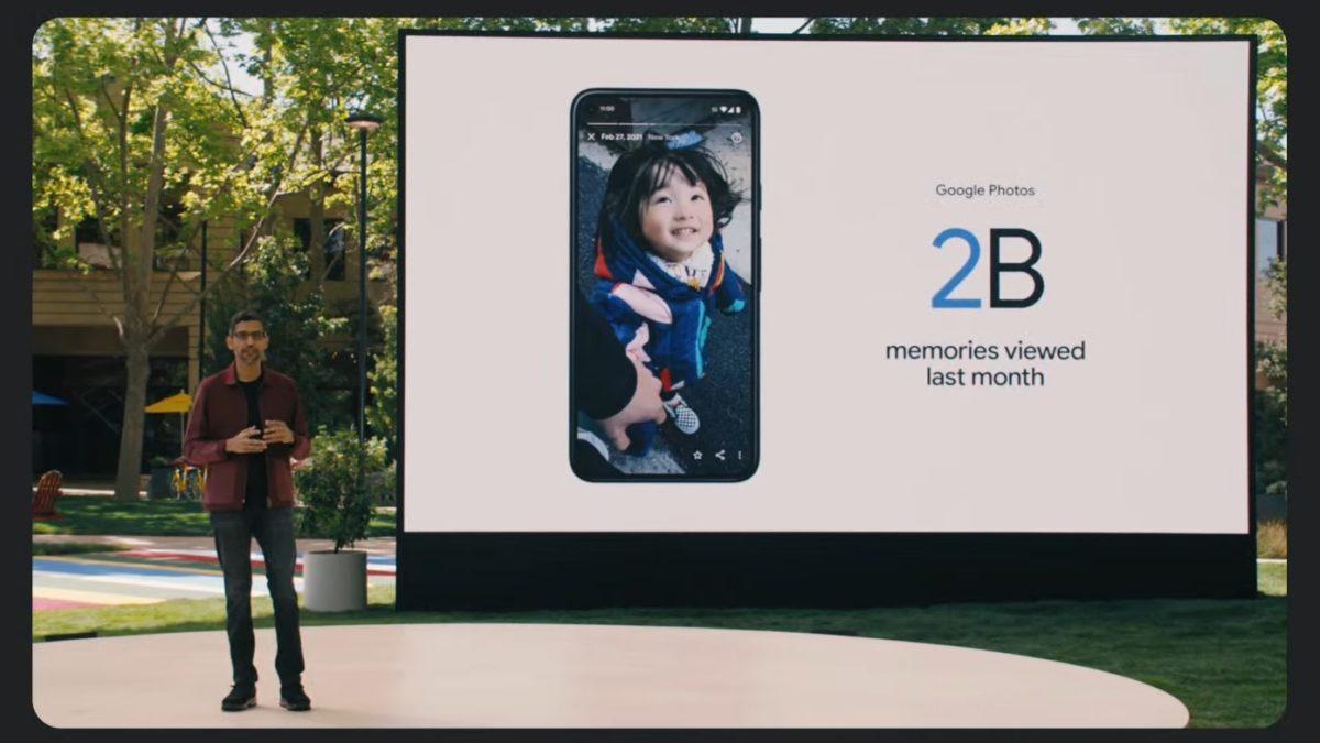 Google IO 2021 Sundar Pichai talks about photos