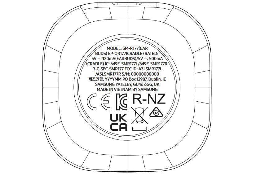 samsung galaxy buds 2 fcc regulatory label