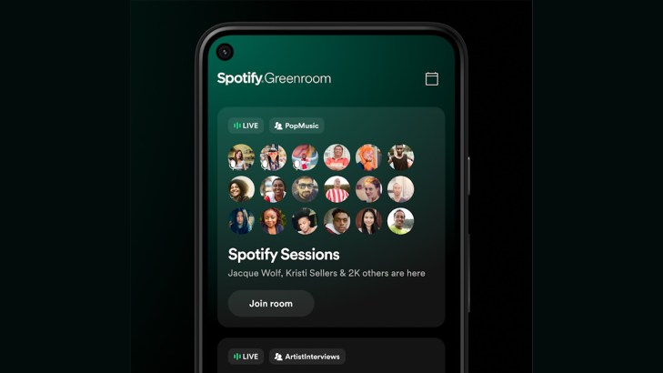 Android Apps Weekly Spotify Greenroom screenshot