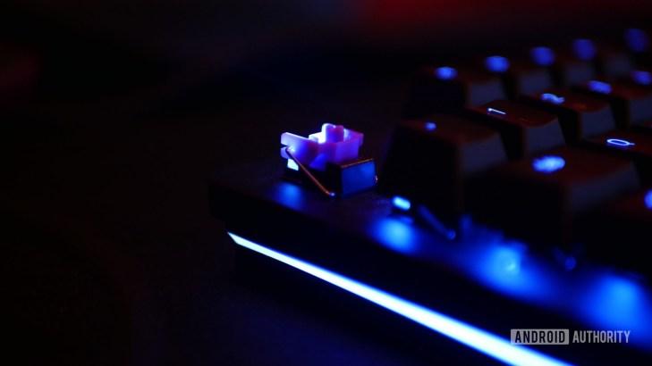 Razer Huntsman Elite purple switch close up