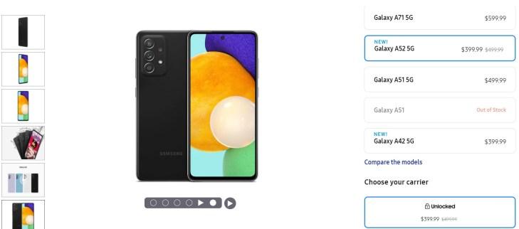 Samsung Galaxy A52 5G Deal