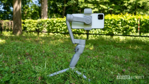 Zhiyun Smooth Q3 with phone mounted on tripod