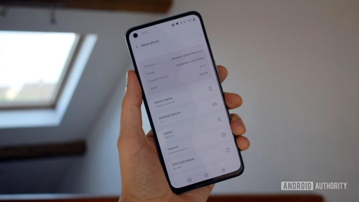 OnePlus Nord 2 5G OS version