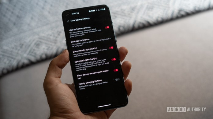 OnePlus Nord 2 high performance mode
