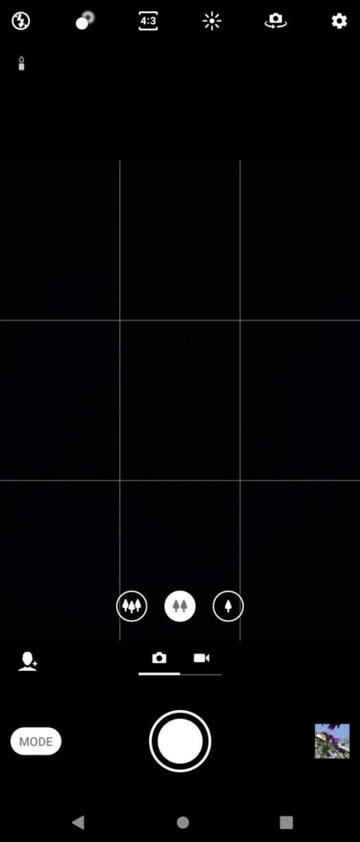 Sony Xperia 1 II basic camera app