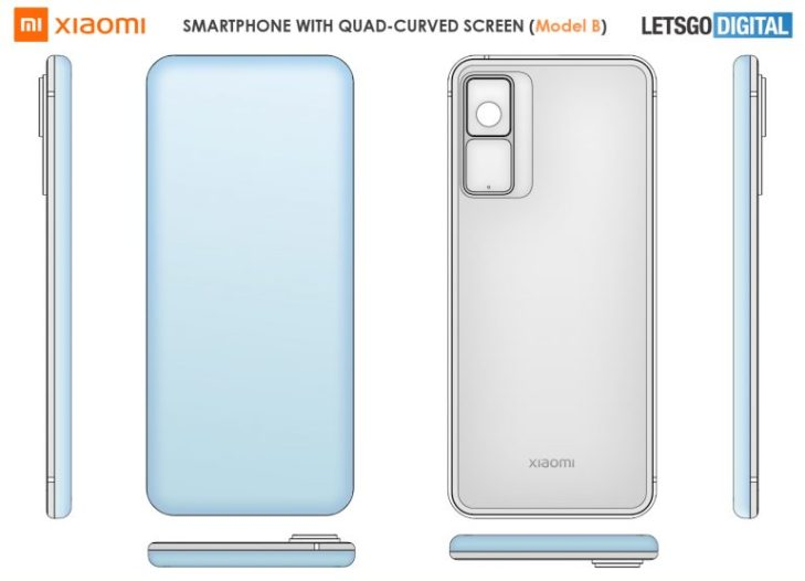 xiaomi four sided curved screen patent