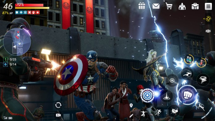 Android Apps Weekly Marvel Future Revolution screenshot