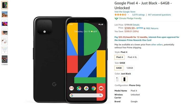 Google Pixel 4 Amazon Deal