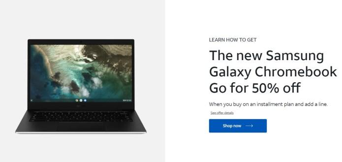 Samsung Galaxy Chromebook Go ATandT Deal