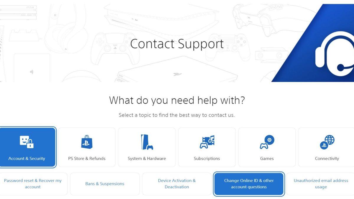 Страница поддержки в чате Sony Live Chat