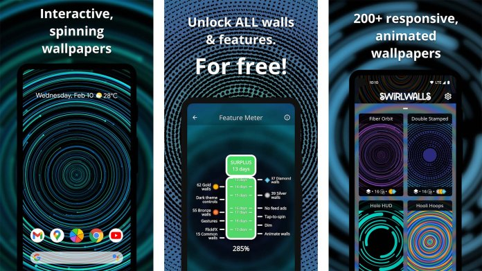Captura de tela do SwirlWalls