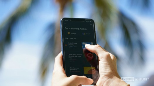 User named Kaitlyn navigates to the Headspace app's Today tab on an iPhone 11.
