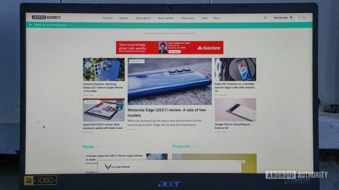 Acer Chromebook 515 display