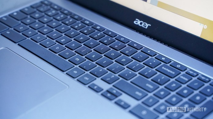 Acer Chromebook 515 keyboard right profile