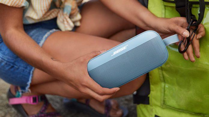 Bose SoundLink Flex blue backpack bluetooth speaker