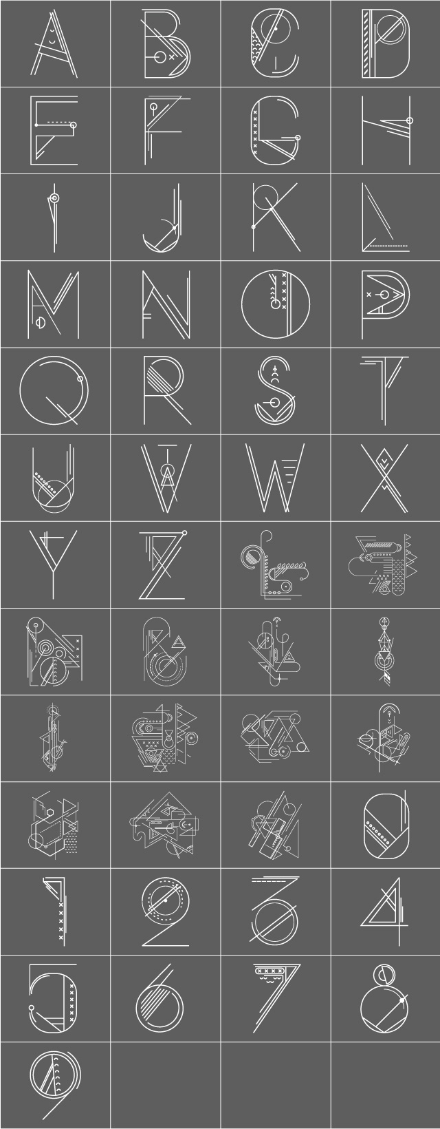 Download Download the Blueprint Alphabet Package from the PicsArt ...