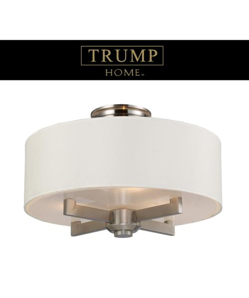 ELK Lighting 20152 3 Seven Springs 18 Inch Wide Semi Flush Mount     Shown in Satin Nickel finish