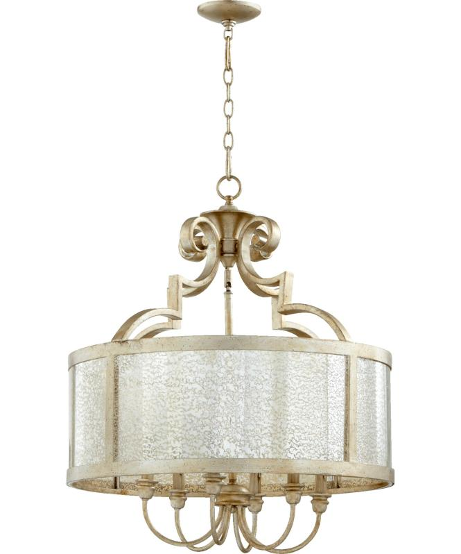 Shown In Aged Silver Leaf Finish And Vintage Champagne Glass