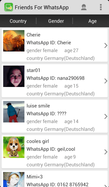 Find WhatsApp Friends | Download APK for Android - Aptoide