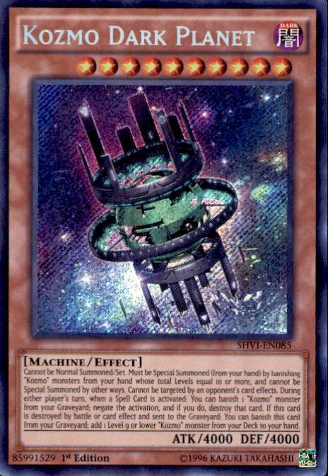 YuGiOh Shining Victories Single Card Secret Rare Kozmo