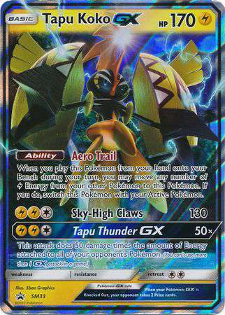 Pokemon Sun Moon Promo Single Card Ultra Rare Holo Tapu