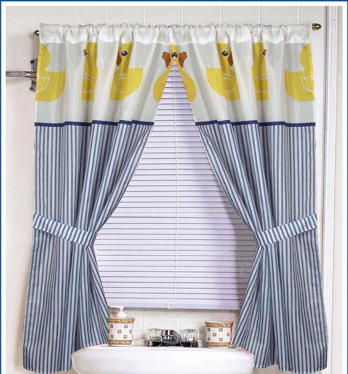 Rubber Ducky Fabric Window Curtain