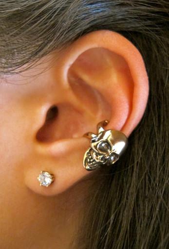 Skull Ear Cuff Bronze Marty Magic Store