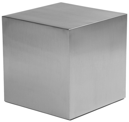 Stainless Steel Cube Side Table