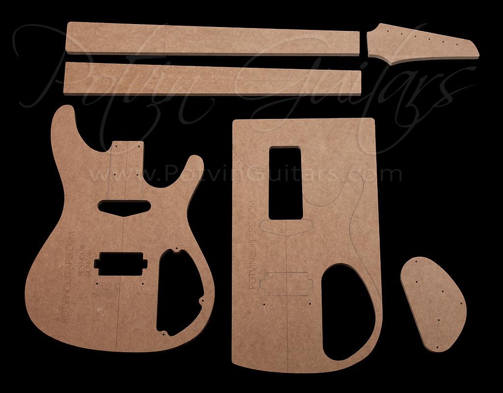 JS-Style Template Set - Potvin Guitars