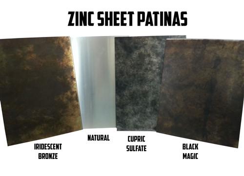 Zinc Sheet Sample For Counter Tops, Range Hoods Tables
