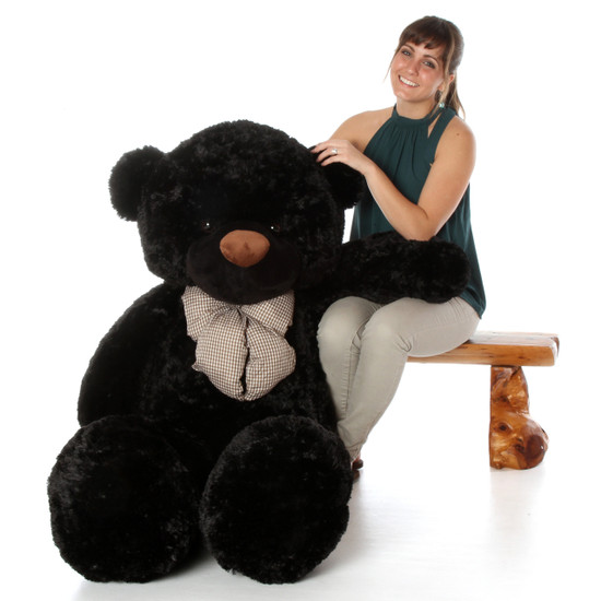 Juju Cuddles 55 Black Plush Teddy Bear Giant Teddy Bears