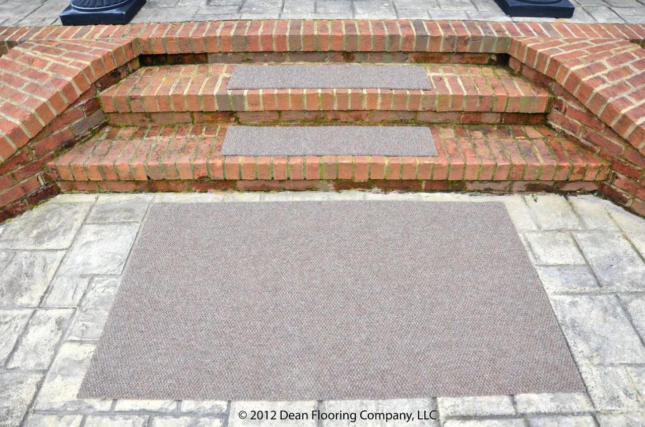 Dean Premium Indoor Outdoor Carpet Non Skid Stair Treads | 36 Carpet Stair Treads