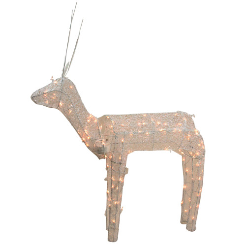48 3 D Glitter Animated Standing Buck Reindeer Lighted