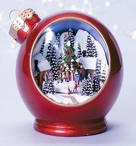 Amusements Animated Amp Musical Lighted Red Ornament With