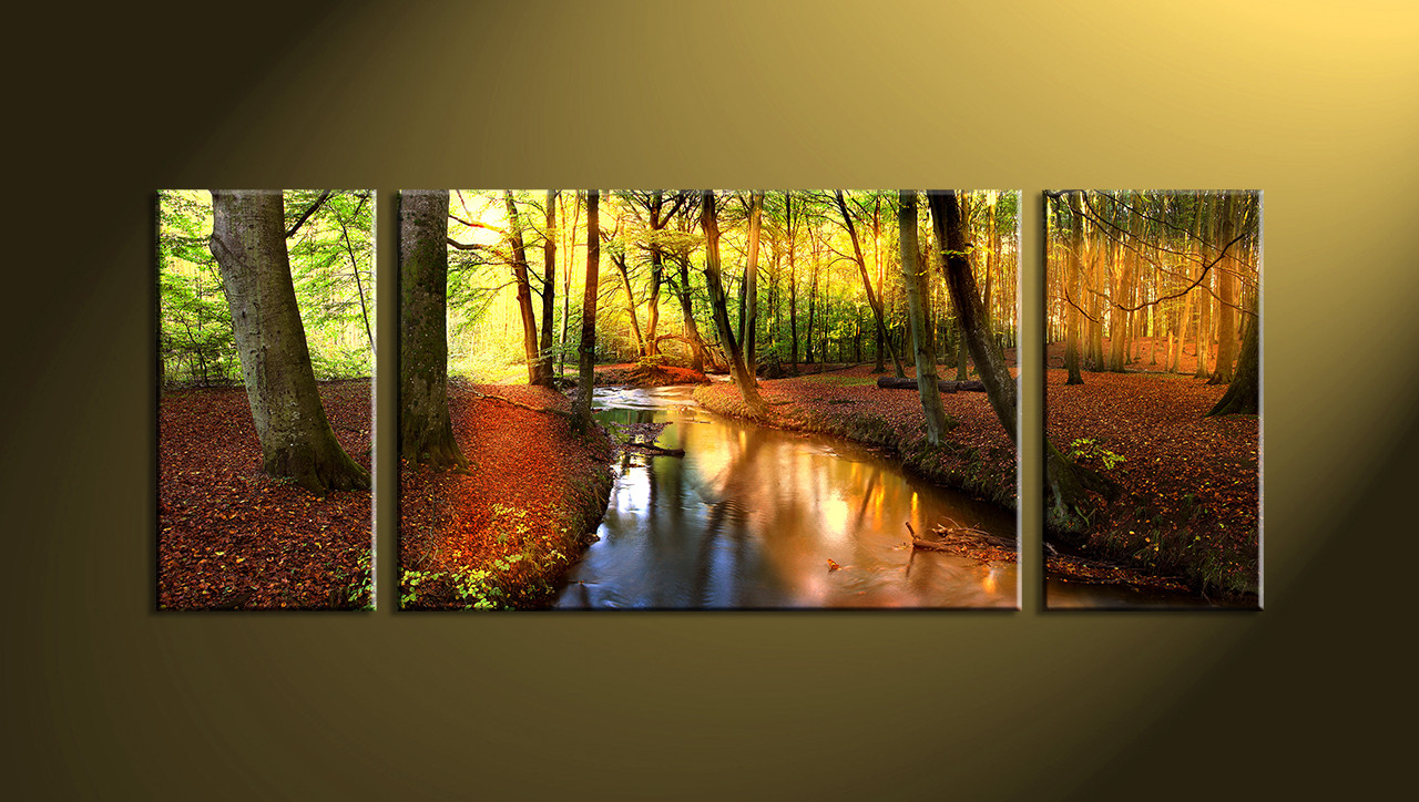 3 Piece Colorful Canvas Scenery Trees Huge Pictures