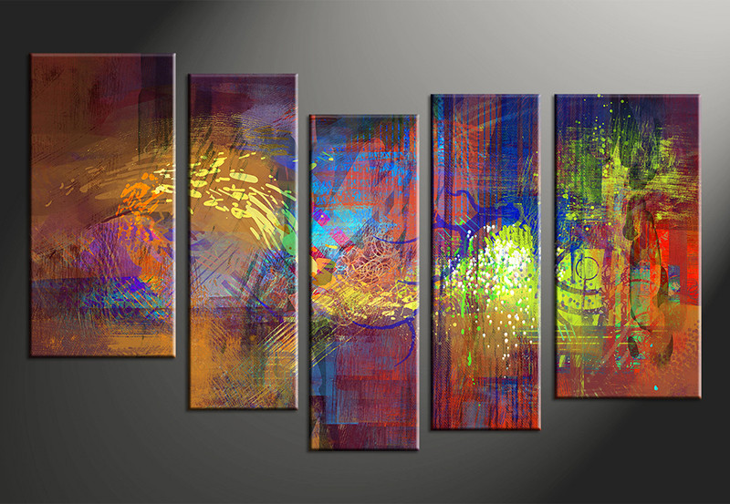 Vvvart Reviews,5 Piece Abstract Decor Colorful Oil