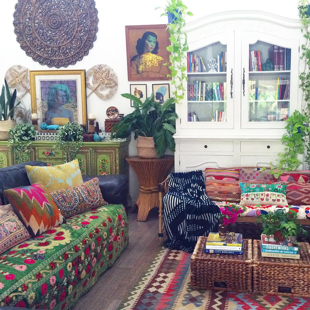 7 Inspirational Boho Living Room Designs You Have to See ... on Bohemian Living Room Decor Ideas  id=61370
