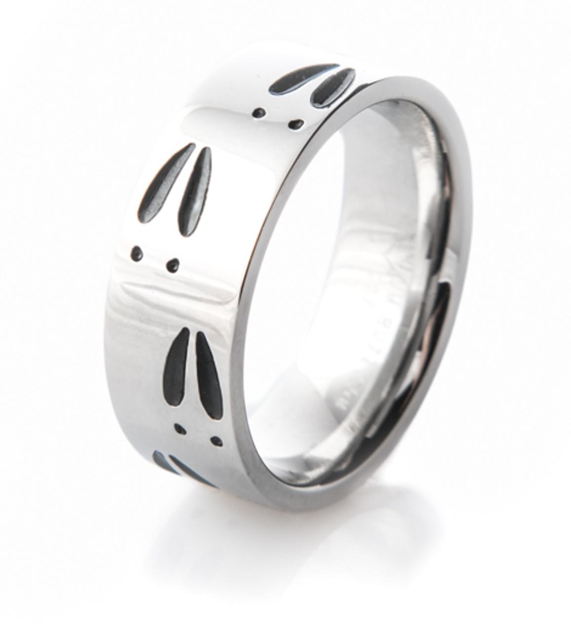 Cobalt Deer Track Ring Unique Titanium Rings Amp More